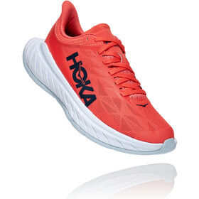 Hoka One One Carbon X 2 Shoes Women, hot coral/black iris